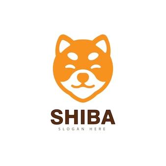 Design de logotipo de personagem shiba inu criativo
