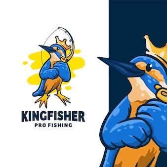 Design de logotipo de pesca king finisher pro