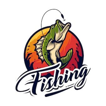 Design de logotipo de pesca
