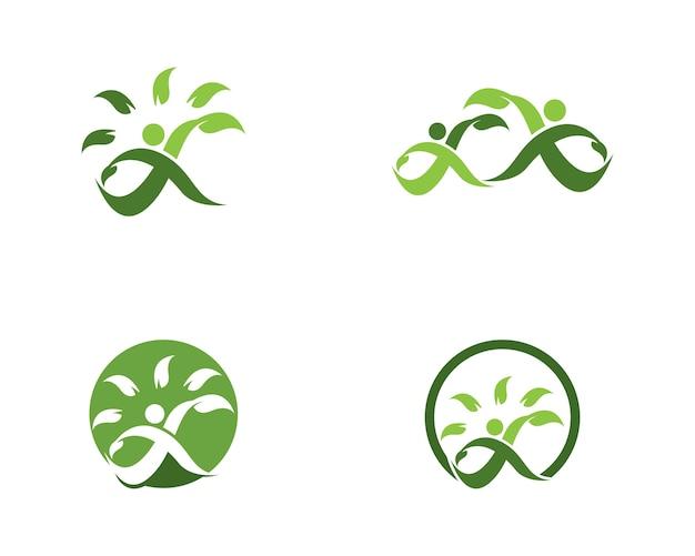 Design de logotipo de pessoas de saúde