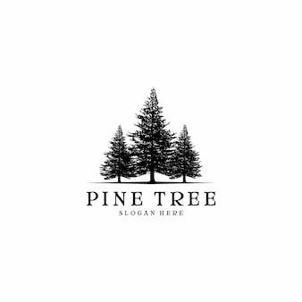 Design de logotipo de pinheiro