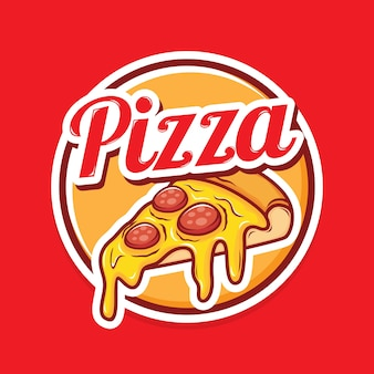 Design de logotipo de pizza