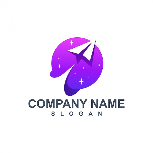 Design de logotipo de plano de papel