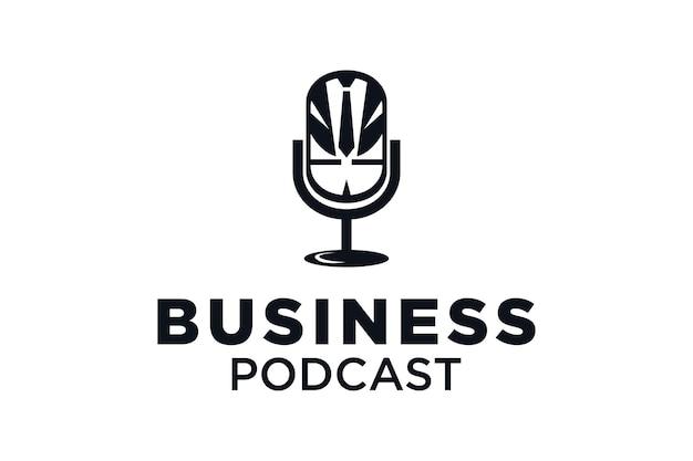 Design de logotipo de podcast empresarial