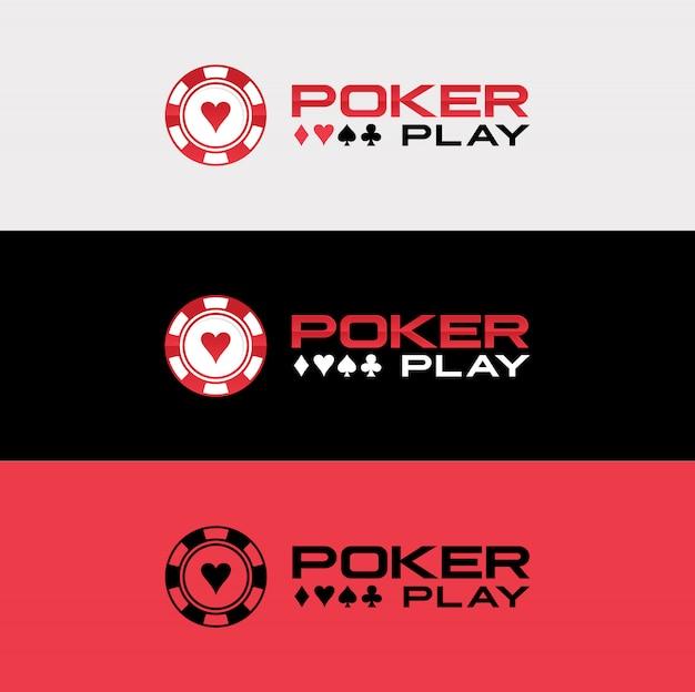 Design de logotipo de pôquer casino royale