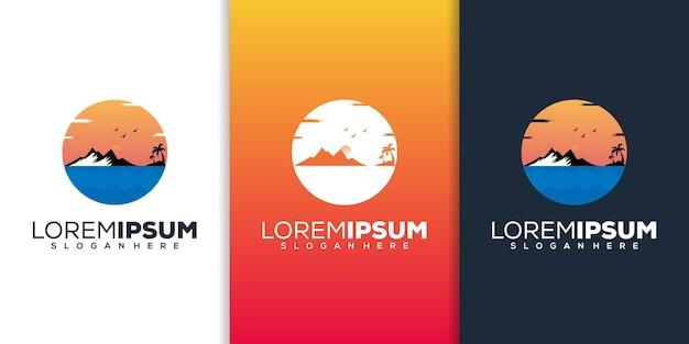 Design de logotipo de praia moderno