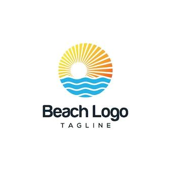 Design de logotipo de praia