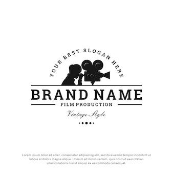 Design de logotipo de produção de filme criativo