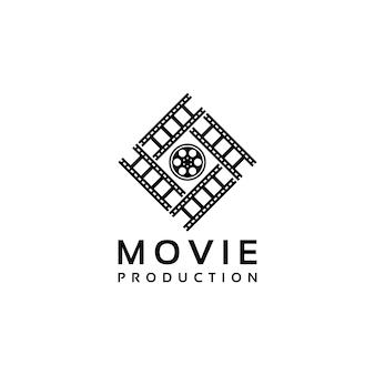 Design de logotipo de produção de filme de cinema