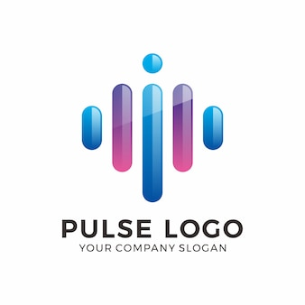 Design de logotipo de pulso abstrato