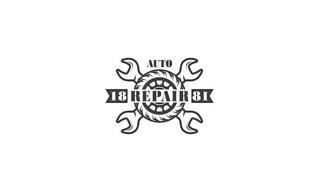 Design de logotipo de reparo de engenharia de serviços mecânicos