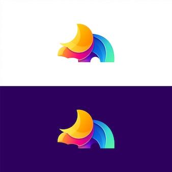 Design de logotipo de rinoceronte