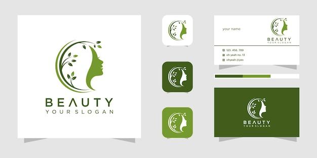 Design de logotipo de salão de beleza para mulher de beleza