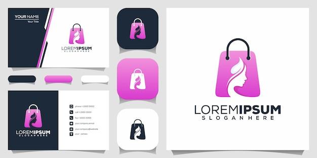 Design de logotipo de salão de beleza