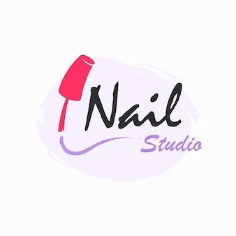 Design de logotipo de salão de manicure