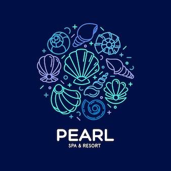 Design de logotipo de salão spa.