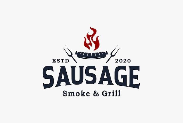 Design de logotipo de salsicha.