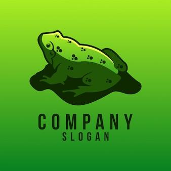 Design de logotipo de sapo