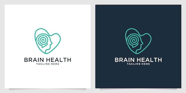 Design de logotipo de saúde cerebral