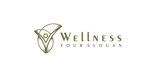 Design de logotipo de saúde da natureza
