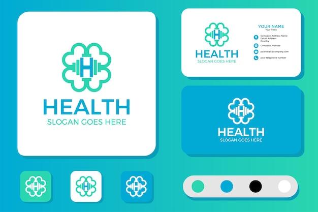 Design de logotipo de saúde e cartão de visita