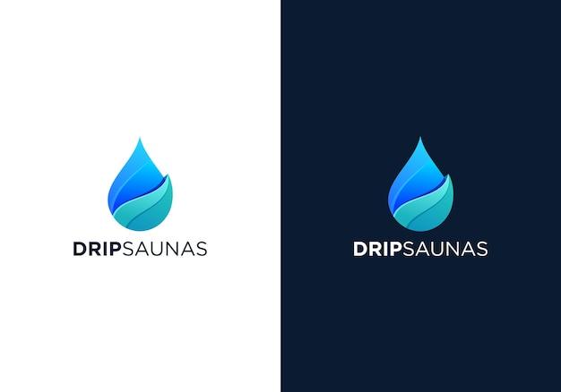 Design de logotipo de saunas gota a gota