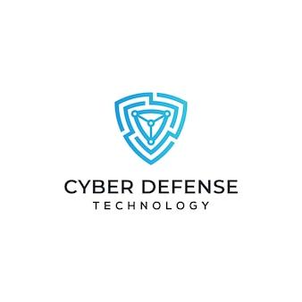 Design de logotipo de segurança cibernética