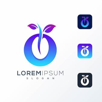 Design de logotipo de sementes coloridas