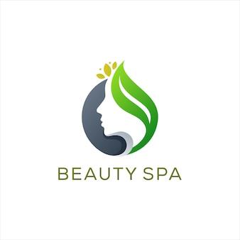 Design de logotipo de senhora de beleza de spa