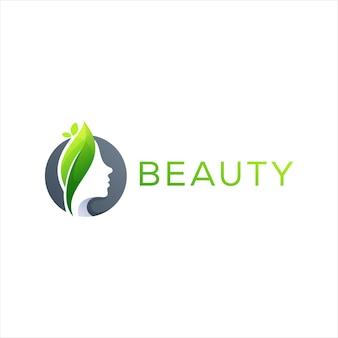 Design de logotipo de senhora de cuidados de beleza