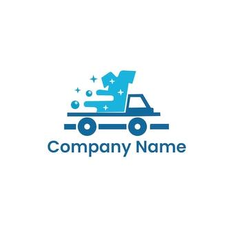Design de logotipo de serviço de limpeza de lavanderia