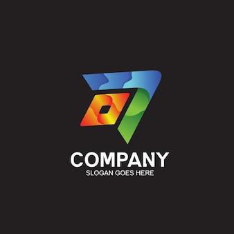 Design de logotipo de seta colorida
