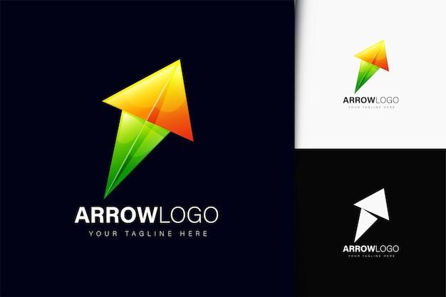 Design de logotipo de seta com gradiente