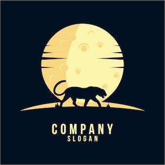 Design de logotipo de silhueta de pantera