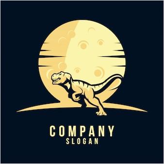 Design de logotipo de silhueta de t-rex
