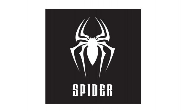 Design de logotipo de símbolo de aranha