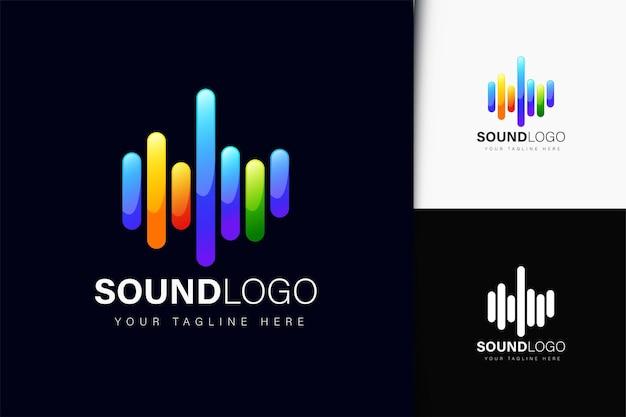 Design de logotipo de som com gradiente