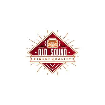 Design de logotipo de som