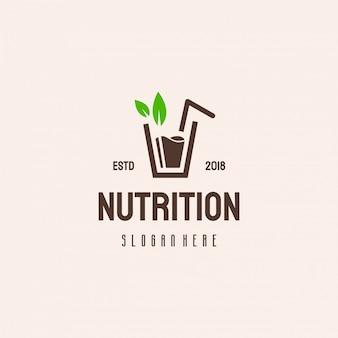 Design de logotipo de suco fresco, logotipo de nutrição