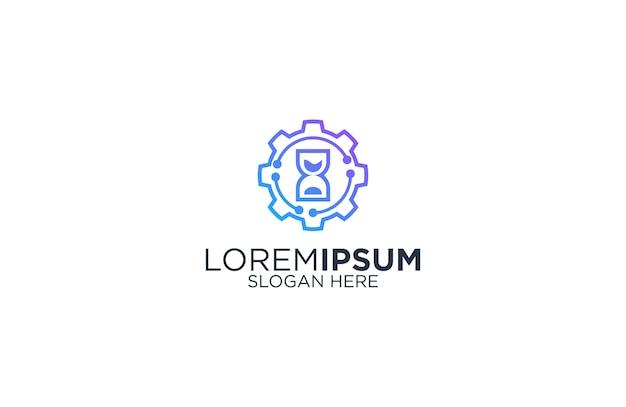 Design de logotipo de tecnologia de configuração de temporizador