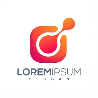 Design de logotipo de tecnologia pronto para uso