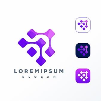 Design de logotipo de tecnologia
