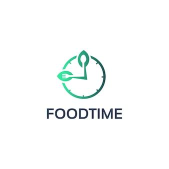 Design de logotipo de tempo de comida