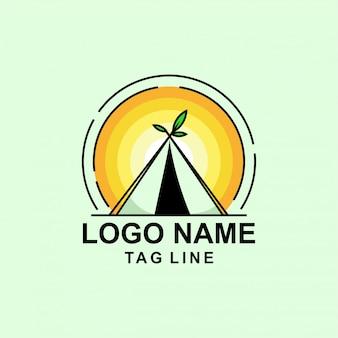 Design de logotipo de tenda