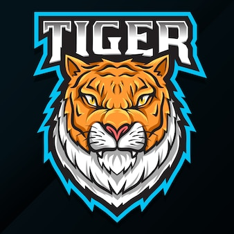 Design de logotipo de tigre de animal selvagem