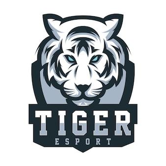 Design de logotipo de tigre para jogos de esporte
