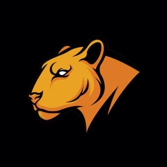 Design de logotipo de tigre