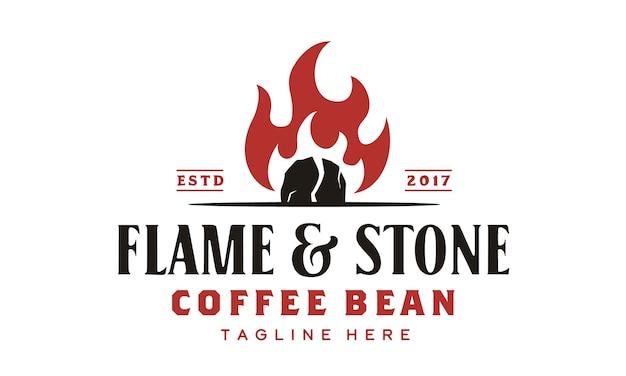 Design de logotipo de torrador de café