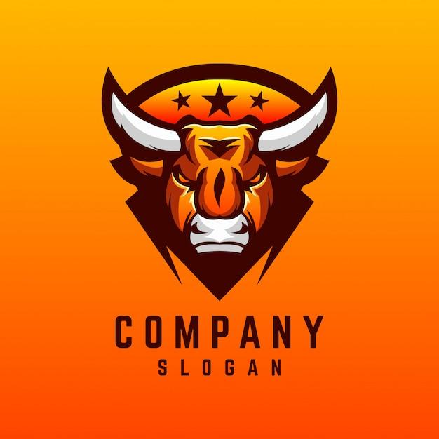 Design de logotipo de touro