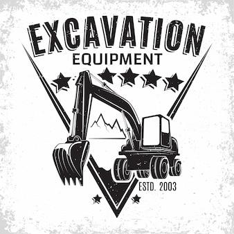 Design de logotipo de trabalho de escavação